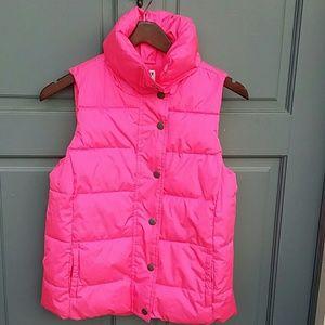 Old Navy Pink puffer vest